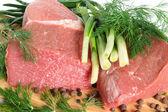 Carne de vaca cruda — Foto de Stock