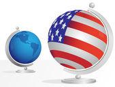 Two globe — Stock Vector