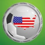 Football sign USA — Stock Vector