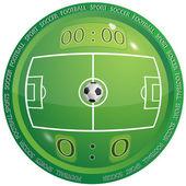 Icona del calcio — Vettoriale Stock