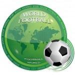 World and football — Stock Vector