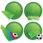 Football icons — Stock Vector