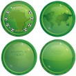 Green icons about football — Stock Vector #3427886