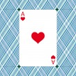 Ace of hearts — Stock Vector
