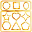 Set of a gold frames — Stock Vector