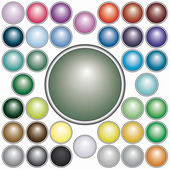 Set of round buttons — Stock Vector