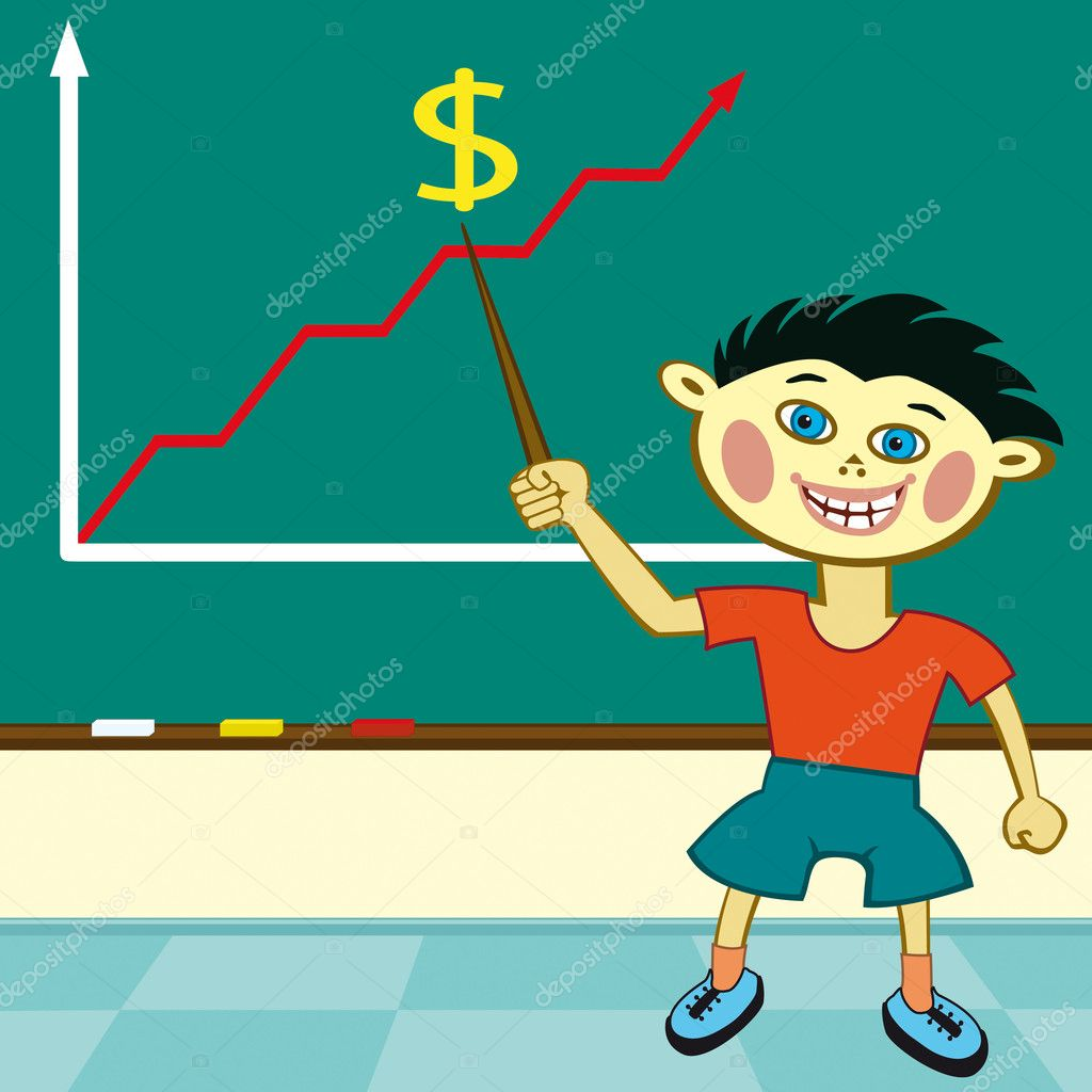 Young pupil studying business  Stock Vector #2804048