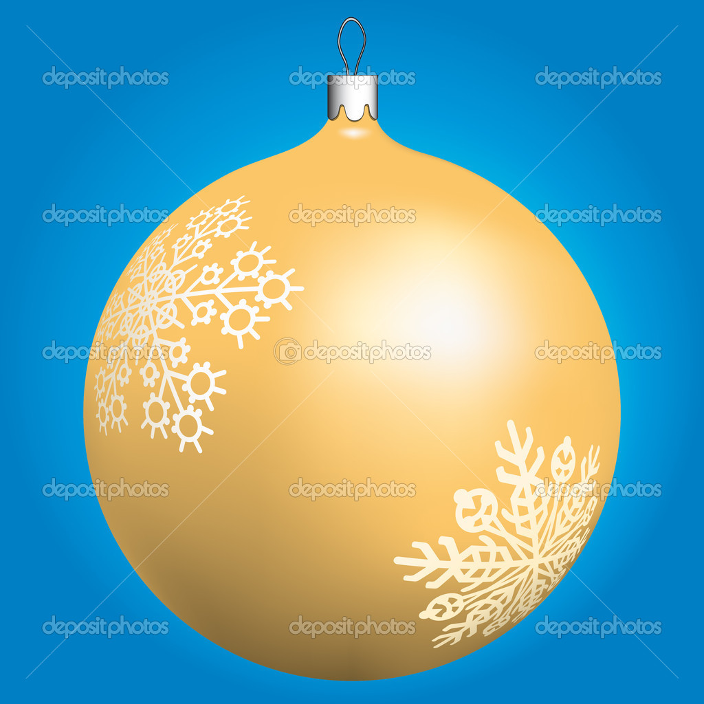 Gold Christmas ball for design  Stock Vector #2811662