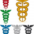 Caduceus collection - Stock Vector