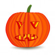 Royalty-Free Stock Imagen vectorial: Halloween pumpkin