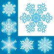 Snowflake collection — Stock Vector