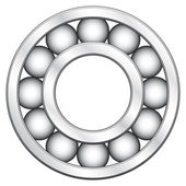 Ball bearing — Stock Vector
