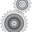 Gear pair - Imagen vectorial