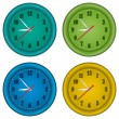 Clocks — Stock Vector