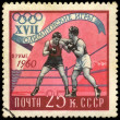 USSR - CIRCA 1960 Boxing — Stock Photo