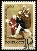 USSR - CIRCA 1963 Wrestling — Stock Photo