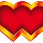 Double heart — Stock Vector #2983042