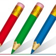 Stock Vector: Short pencils
