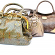 Three woman bags - Foto Stock