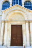 Old church entrance — Stock Photo