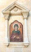 Agia Paraskevi icon on old Cyprus church — Stock Photo