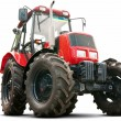 Red tractor — Stock Photo