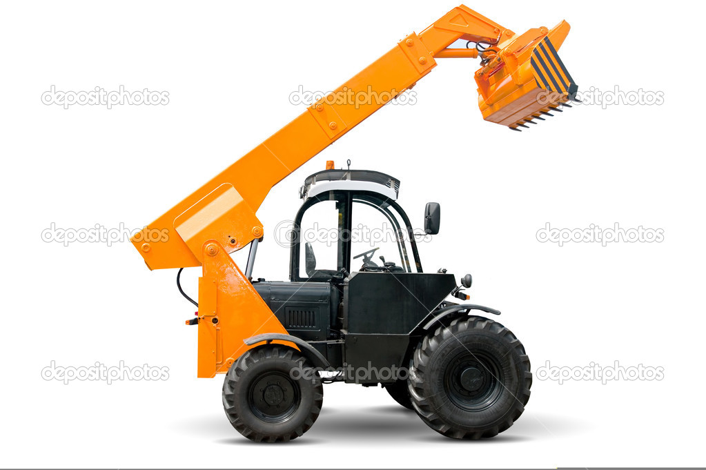 Isolated forklift  Stock Photo #3449410