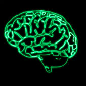 Abstract green brain — Stock Photo