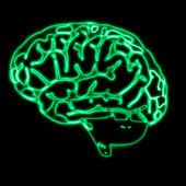 Abstract green brain — Stock Photo
