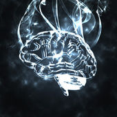 Humans brain in the smoke — Stock Photo
