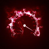 Burning speedometer — Stock Photo