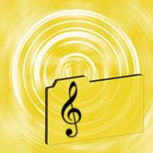 Musical folder — Stock Photo