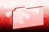 Archivo y binarios código rojo — Foto de Stock