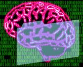Code de cerveau et binaire homme — Photo