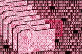 Error detected in binary code — Stock Photo