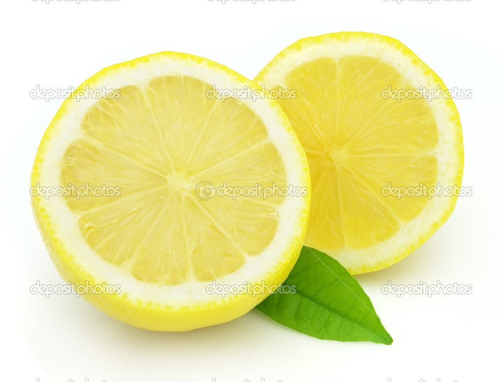 Juicy lemon with leaves — Stock Photo #3678749