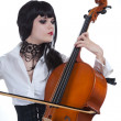 Attractive girl playing cello — Stock Photo #3198186