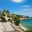 View of city Old Nessebar and sea - ストック写真