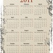 European Vector grungy calendar 2011 — Stock Vector #3478889