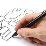 blokdiagram uit de hand-tekening — Stockfoto