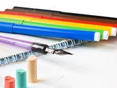 Barevnými pastelovými křídami, kresba — Stock fotografie