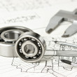 Mechanical scheme and bearing — Stockfoto