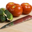 Vegetables on a cutting board - Lizenzfreies Foto