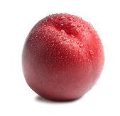 Rijp perzik met druppels — Stockfoto