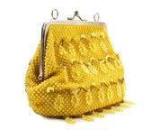 Kadın sarı çanta — Stok fotoğraf