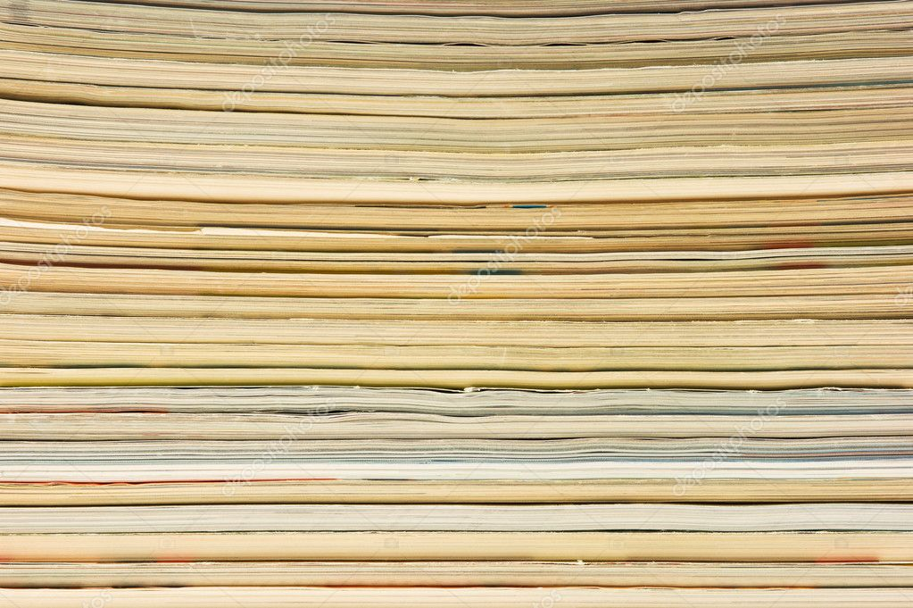 Background of a stack of magazines — Stock Photo #3755500