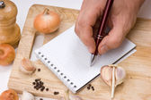 Notebook for culinary recipes — Stock fotografie