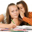 Two teenage girls gossiping — Stock Photo #3799397