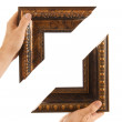 Element of the frame  in hand - Stock fotografie