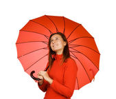 Young girl with an umbrella — Stock Photo